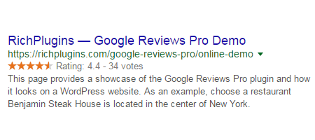 Google Reviews Pro Rich Snippets