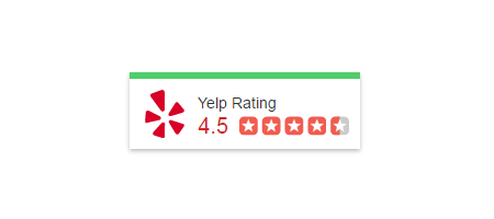 Yelp reviews trust badge