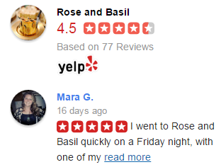 Yelp reviews concatenation